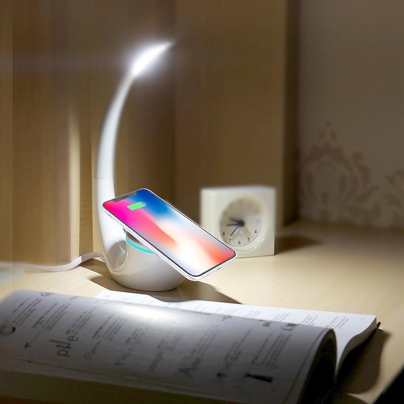 Nillkin QI Caricatore Senza Fili di Ricarica Intelligente Zerbino lampada di Risparmio di Energia di Phantom caricatore senza fili per il iphone per Samsung S8 Nota 8