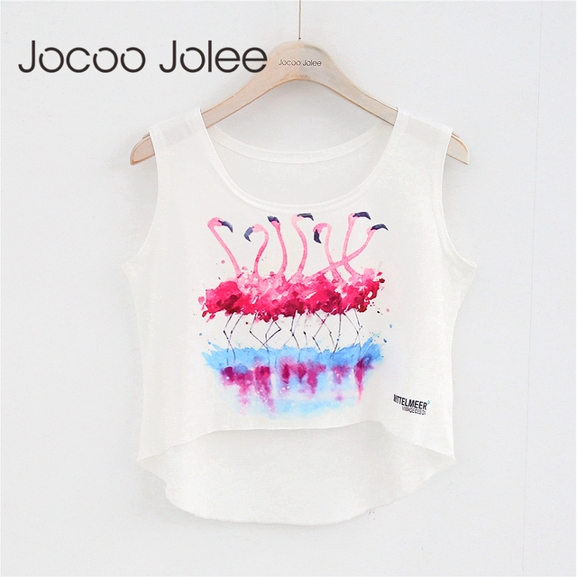 Jocoo Jolee Casual Appliques Women Tank Tops Letter Print Sporting Fitness Vest Sleeveless Crop Top O-Neck 2018 Spring&Summer