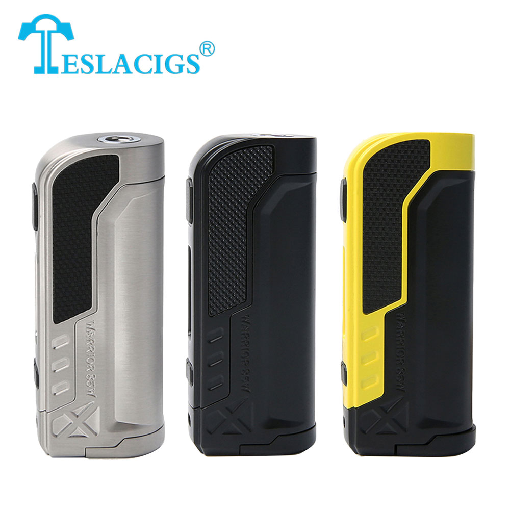 Original 85W Tesla Warrior TC Box MOD with 85W Max Output Power No 18650 Battery Box Mod Electronic Cigarette Vape Pocket Mod clearance original 60w digiflavor df 60 tc mod with 1700mah built in battery max 60w output electronic cigarette vape box mod