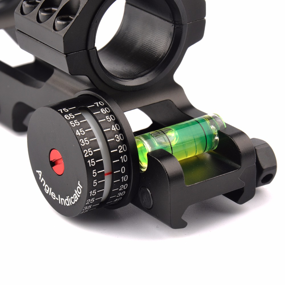 3 Shape Tactical 25.4/30mm Scope Ring Base Mount with Angle Indicator and Spirit Buble Level for Hunting Accessories