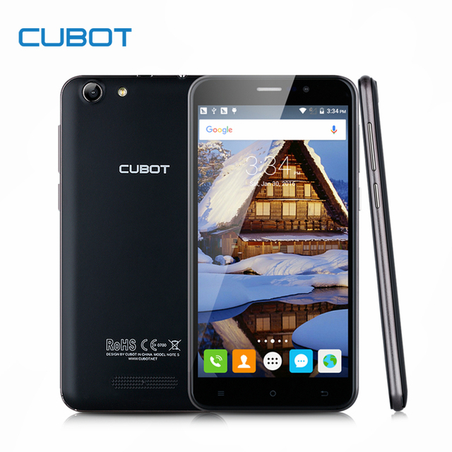 Original Cubot Note S 4150mAh 5.5 Inch HD Screen Smartphone MTK6580 Quad Core Cell Phone 2GB RAM+16GB ROM Mobile Phone