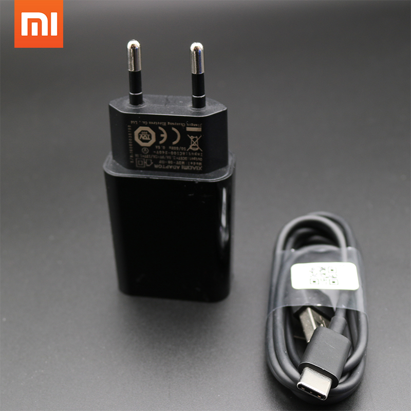 Original XIAOMI Fast Charger Adapter EU QC 3.0 Quick Adapter+Type C Data CableFor Mi 4 5 5s 6 Max 2 Mix A1 Redmi Note 4 4A 4X R