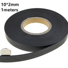 1meters a roll 10*2mm Flexible Soft Magnetic Rubber Magnet S