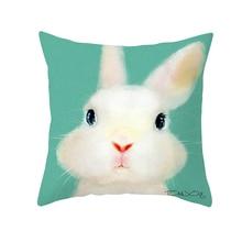 Fuwatacchi Animal Throw Pillows Cute Rabbit Egg Pillow Covers Easter Day Cushion for Home Sofa Chair Decor Pillowcases