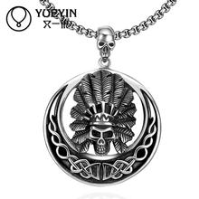 New Simply Cool Necklace N028 Titanium fashion chain 316L stainless steel vintage skeleton pendant necklace women