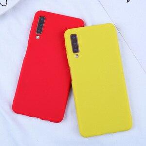 Image 2 - Cassa Del Telefono della caramella Per Samsung Galaxy A7 2018 A750F Custodie Molle Della Copertura di TPU Per Samsung Galaxy s10 S10E S10 S8 s9Plus J4 J6 2018 Plus