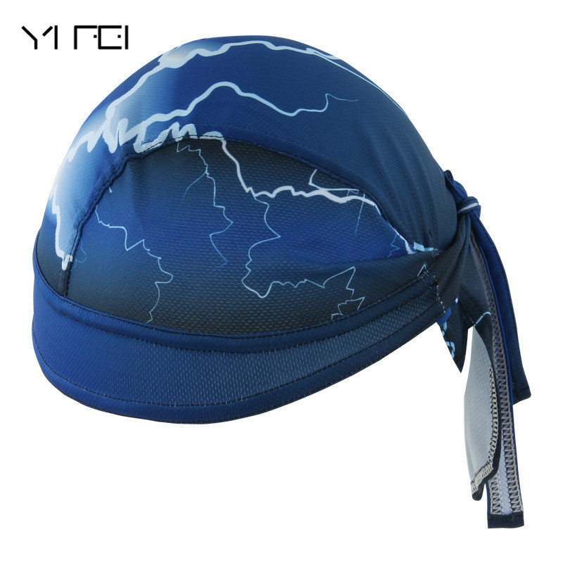 YIFEI New Lightning Cycling Cap Bicycle Hat Anti-UV Sports Skating Climbing Cycling Bandana Ciclismo Breathable Hat Cap outdoor