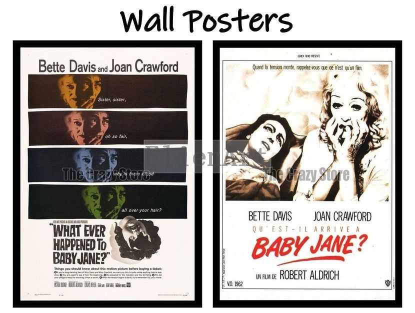 What Ever Happened to Baby Jane Movie Home Decorative Painting White Kraft Paper Poster 42X30cm