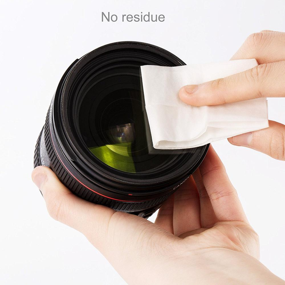 VISUMALL Fragrance Multi-Purpose Lens cleaner Wipe Glasses Optical Camera Cleaning Wipes  cleaning tissue 100 WIPES