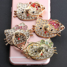 10PCS Luxury hello Kitty Ring Universal Mobile Phone & Tablet Holder for iPhone 5 5s 6 6s Samsung phone Finger Grip Mount(China)