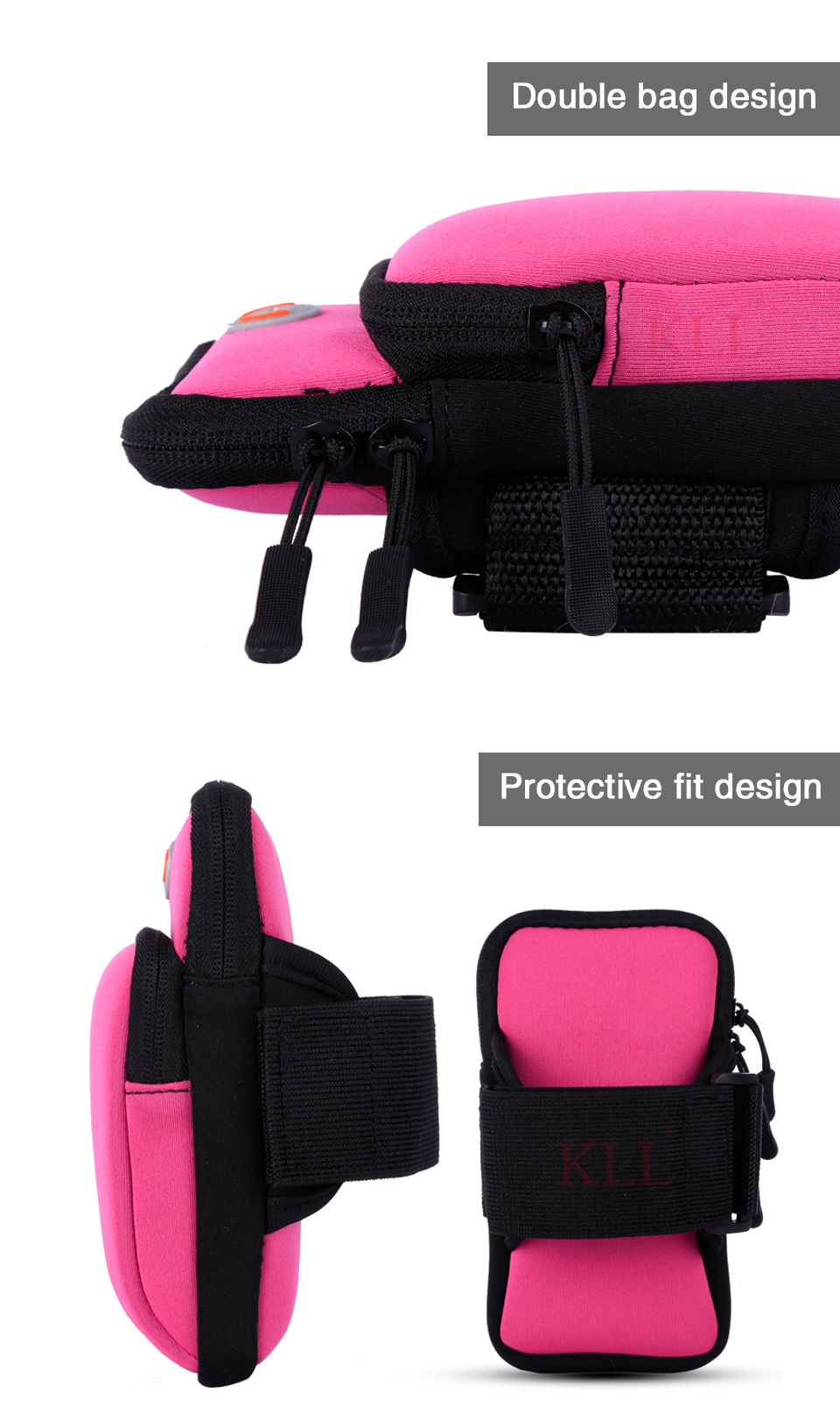 Universal 6'' Waterproof Sport Armband Bag Running Jogging Gym Arm Band Mobile Phone Bag Case Cover Holder for iPhone Samsung