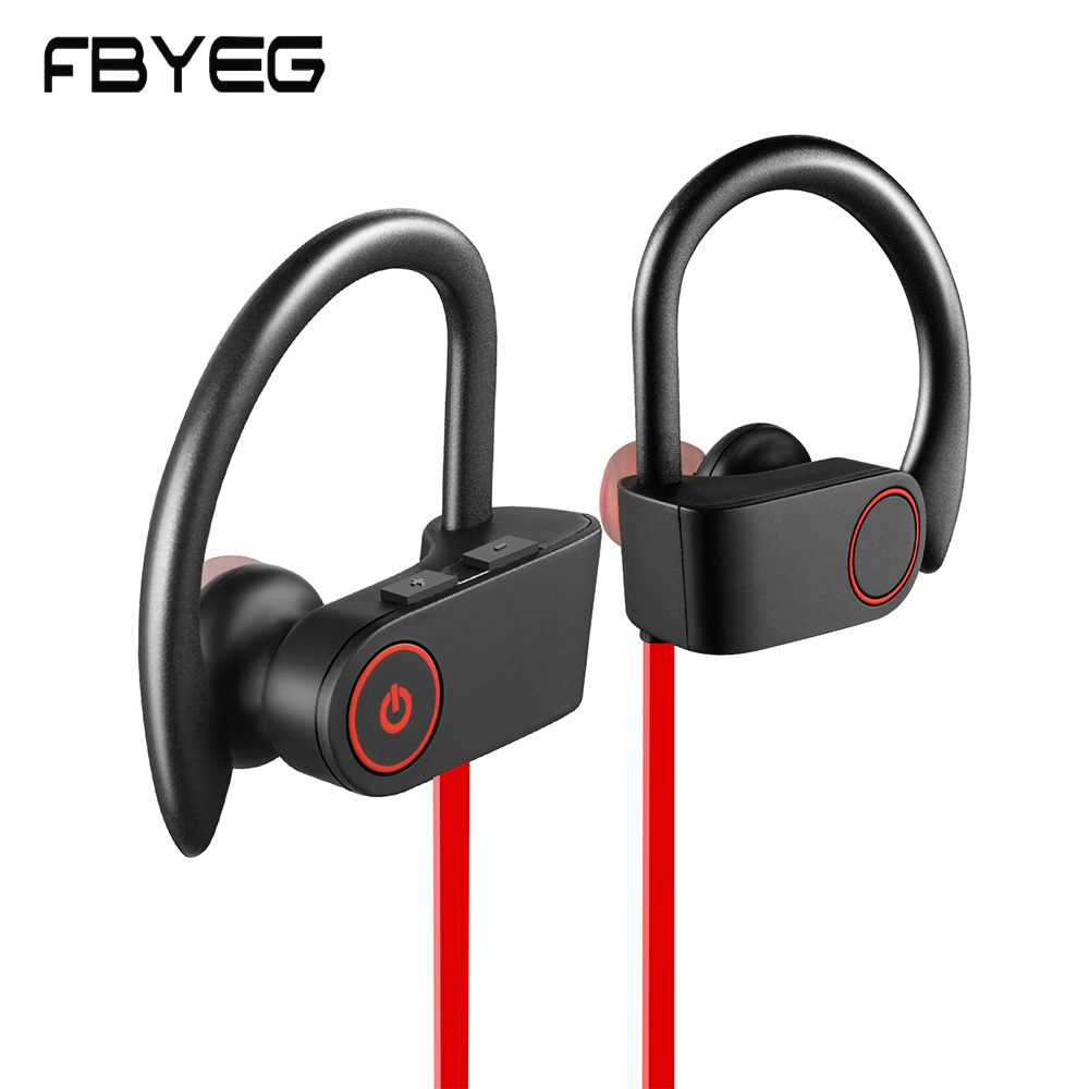 FBYEG Bluetooth Earphone Wireless Headphones Bass Sweatproof Earbuds Bluetooth Sport headset Stereo Earpiece with mic for phone s818 bass bluetooth earphone wireless headphones sport earbuds audifono bluetooth headset for phone fone de ouvido with mic