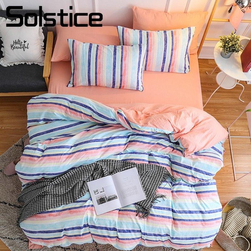Solstice домашний текстиль девочки; дети Постельное белье оранжевый розовый красочные по ...