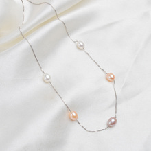 925 Sterling Silver Natural Freshwater Pearl Necklace