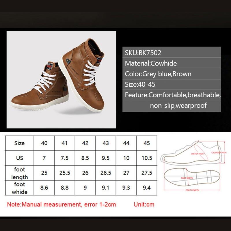 KERAKOLL Motorcycle Racing Shoes Waterproof Leather Moto Casual Shoes Men 4 Season Motocross Boots Cowhide Leather