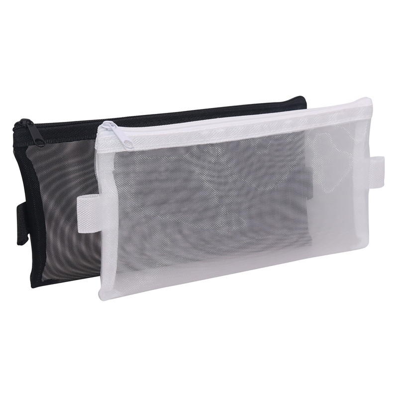1 Pcs Simple Transparent Mesh Pencil Bag Office Student Pencil Cases Mesh Pencil Bag School Supplies Pen Box School Supply
