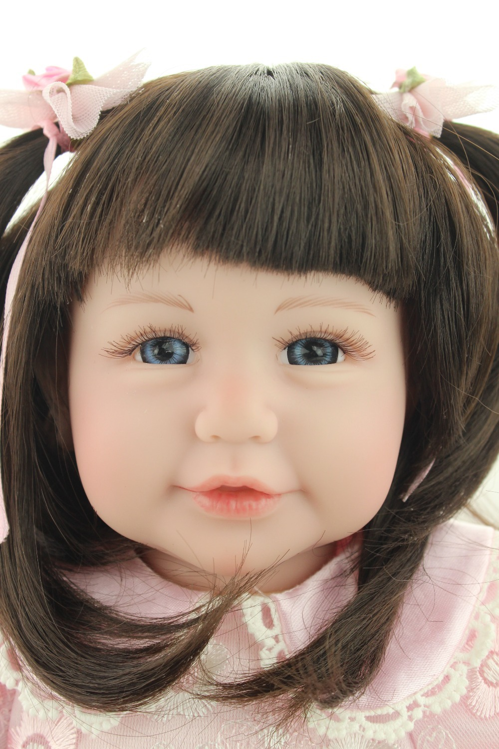 Reborn toddler girl doll sweet baby doll Birthday Gift Toys for Girls 50cm , 20inch curls hair beautiful doll 22 inches sweet girl dolls brown hair 55cm doll reborn baby lovely toys cute birthday gift for girls as american girl