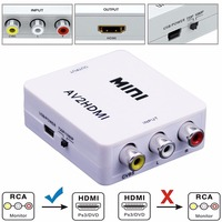 Mini 1080P Composite AV RCA To HDMI Video Converter Adapter Full HD 720 1080p UP Scaler
