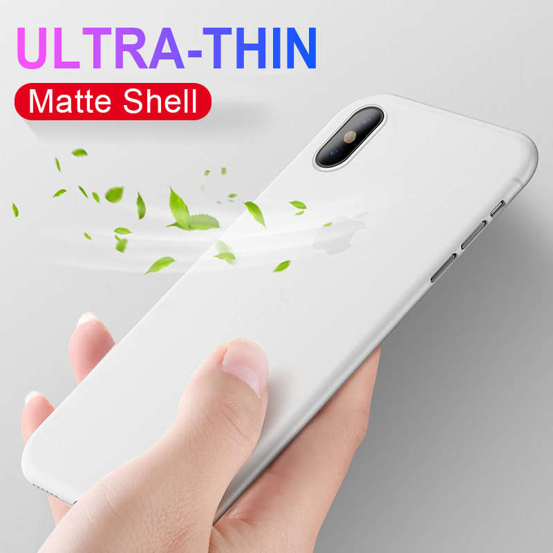 0.26Mm Ultra Thin Matte PP Iphone X XS Max XR Shockproof Full Cover For Iphone XS Max X XR Hard PC Slim Protective Case