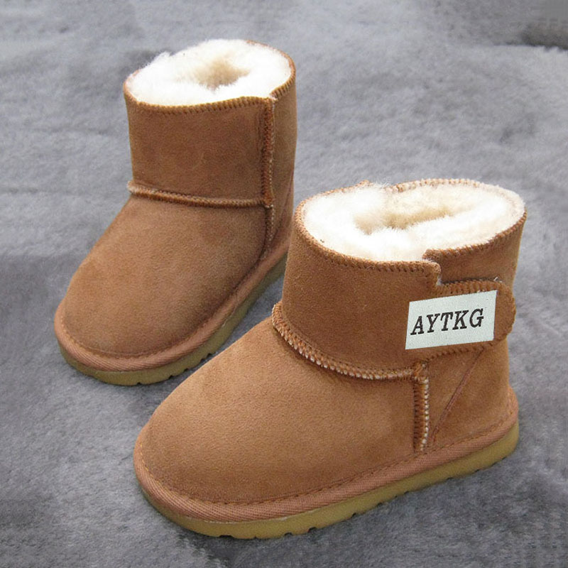 Fashion Soft and comfortable autumn and winter warm childrens snow boots sheepskin with wool fabric non-slip baby toddler shoesFashion Soft and comfortable autumn and winter warm childrens snow boots sheepskin with wool fabric non-slip baby toddler shoes