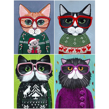 OLY 5D Diy Diamond painting Mr. Cat cross stitch Mosaic Rhinestones pictures Daimond Embroidery Sale home decor