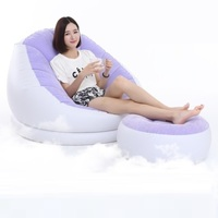 4745 Mail Flocking Inflatable Lazy Sofa Single Balcony Nap Bedroom Creative Leisure Dormitory With Pedals