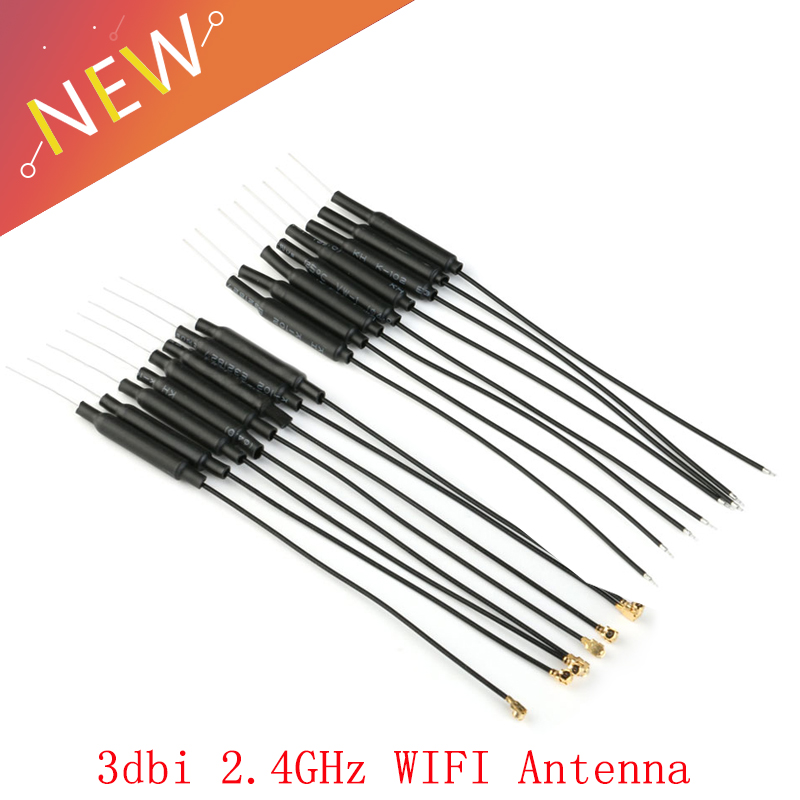 10Pcs/lot 2.4GHz WIFI Antenna 3dbi Ufl IPX Connector Brass Inner Aerial 15cm Length 1.13 Cable HLK-RM04 ESP-07