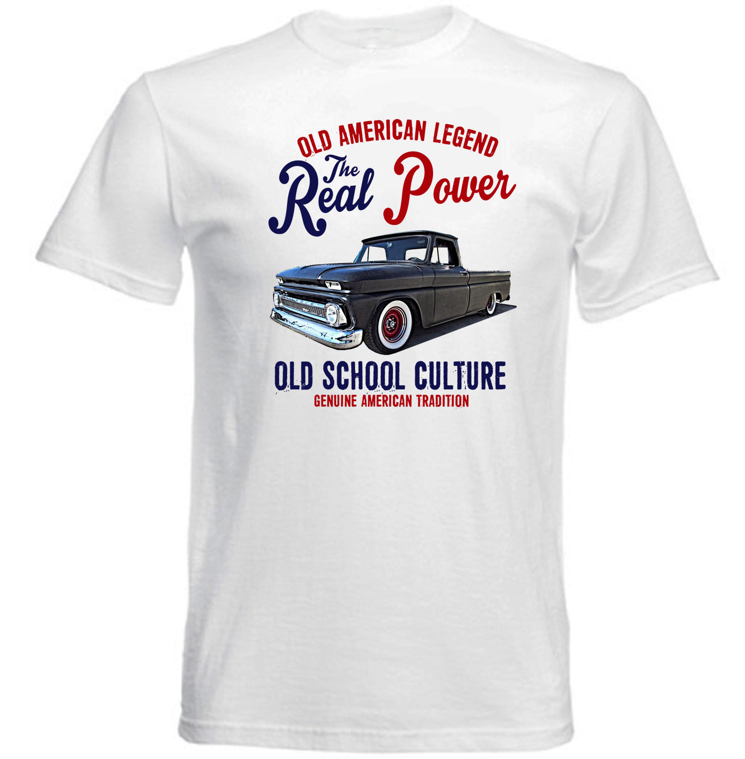 VINTAGE AMERICAN CAR CHEVY PICK UP C10 LONG BED NEW COTTON T SHIRT ...