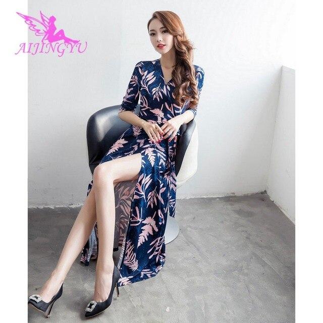 AIJINGYU вечернее платье Длинные вечерние платье 2018 Sexy Для женщин Элегантный Формальные Платья для специальных торжеств модные платья FK319
