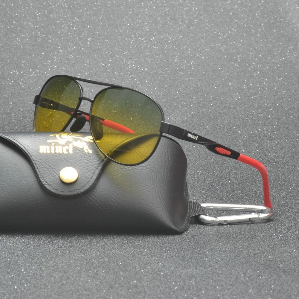 day night vision polarized sunglasses anti-glare night driving glasses Rain and fog days graced men's polarized Sun glasses FML 3