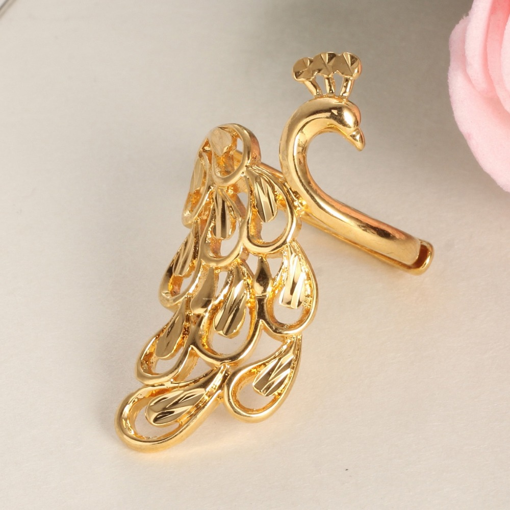 TENGYI Cheap Engagement Rings Gold Color Peacock Finger Ring for ...