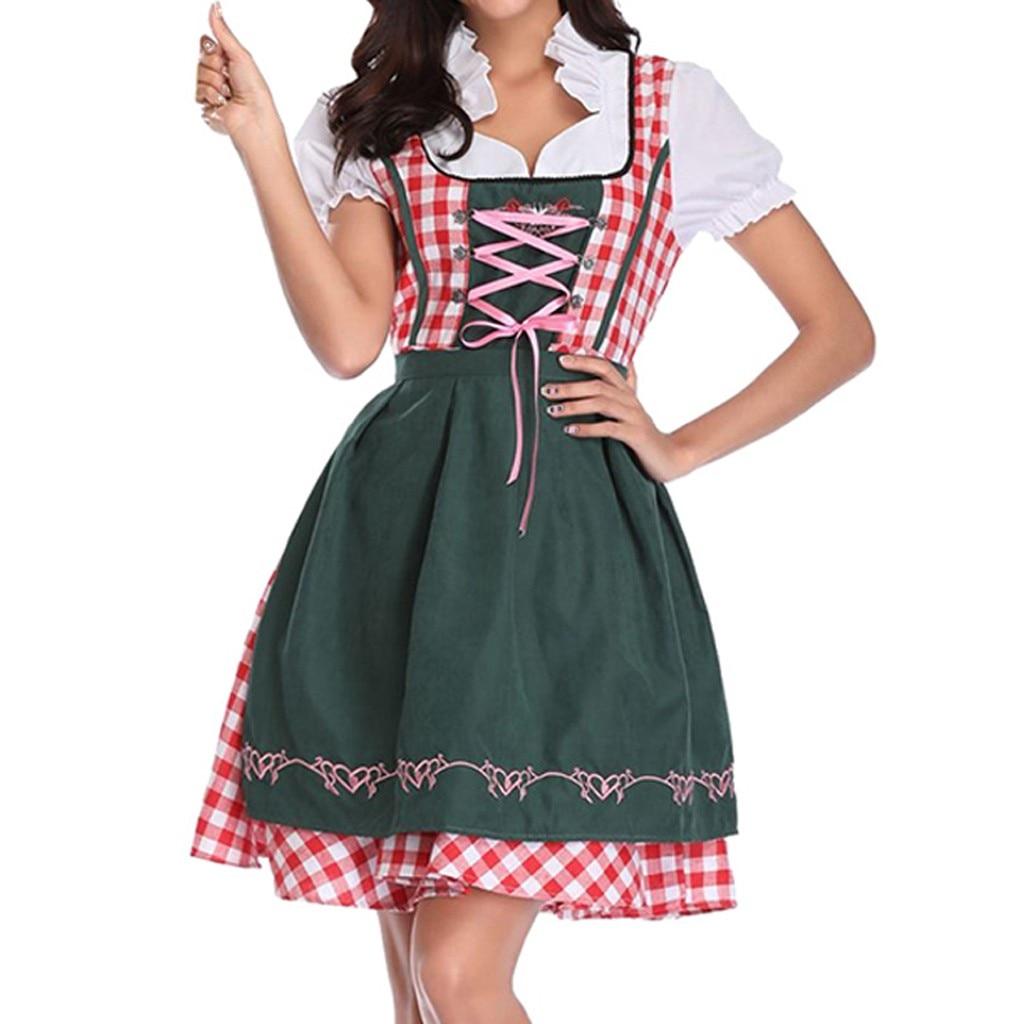 Beer Festival Adult Woman Costume Maid Costume Late Night Maid Servant Dress Carnival Bavarian Oktoberfest Cosplay Costumes