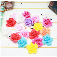 100 sztuk BIG PE Róży kwiat Sztuczne kwiaty symulacja Rose Garland Ślubne dekoracje DIY Stanik Darmowa Wysyłka W77