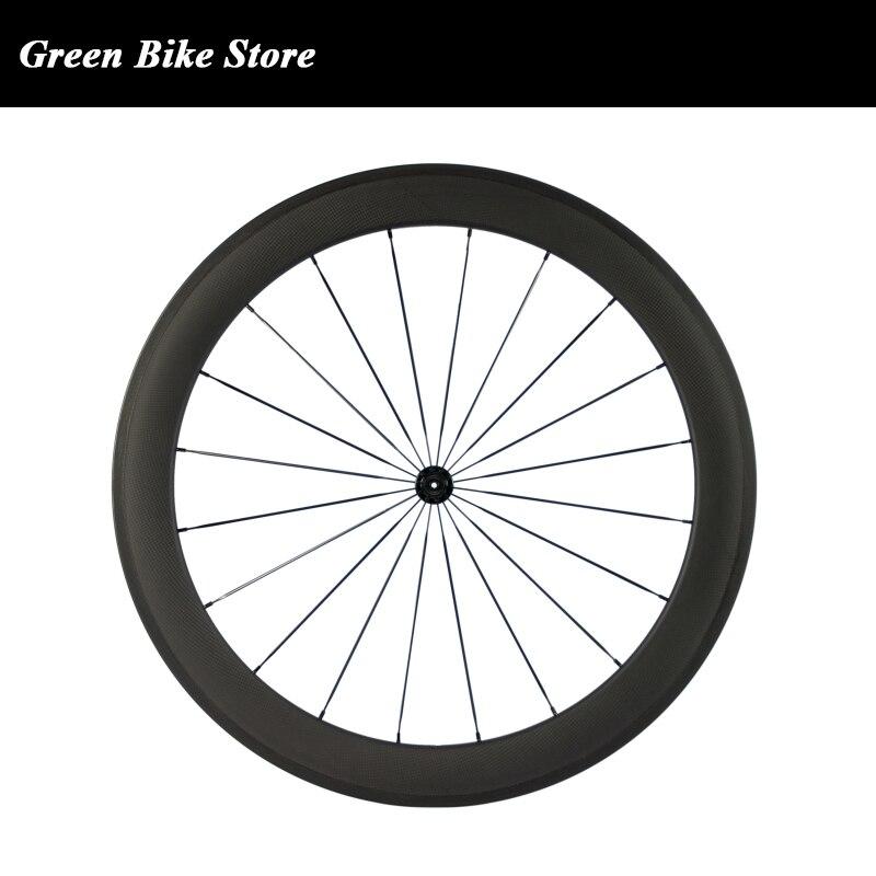 700C Clincher Wheelset 60mm matte Rear Wheel 23mm Width Carbon Fiber Road Cycling Bike Wheels