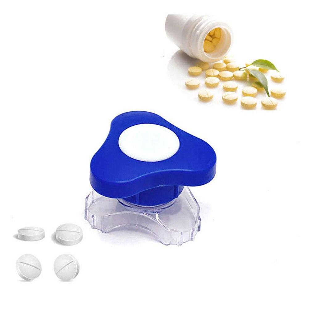 1 Pc Pill Crusher Plastic Ergonomic Grip Pulverizer Pills Cutter Tablet For Home