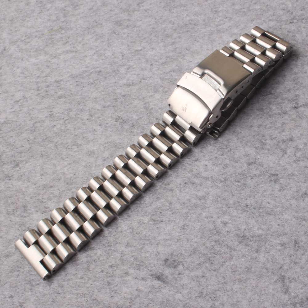 Watchbands Stainless Steel 20mm 22mm 24mm Solid Links Straight ends Watch Strap Bracelets for mens watches accessories promotion цена