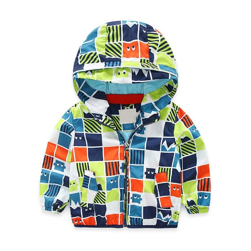 Kids Outerwear Foreign Children Clothing Autumn New Brand Korean Plaid Pizex Baby Boys Jaclet Coat Boys