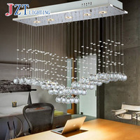 T Luxury Fashion Creative Crystal Ceiling Light Rectangular Simple LED Lamps For Bar Home Lighting Corridor