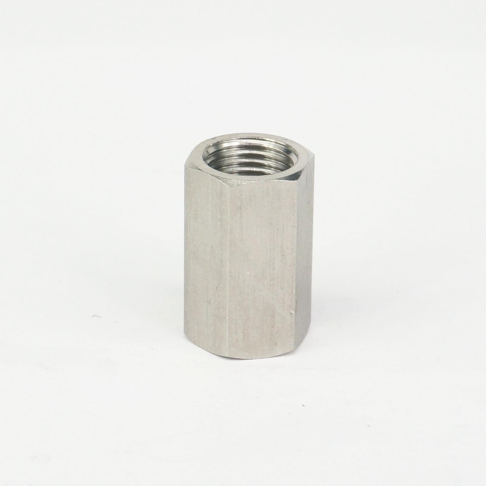 304 Stainless Steel Hex Nut Rod Pipe Fitting Connector Adapter 1/4 BSP Female Threaded Max Pressure 2.5 Mpa