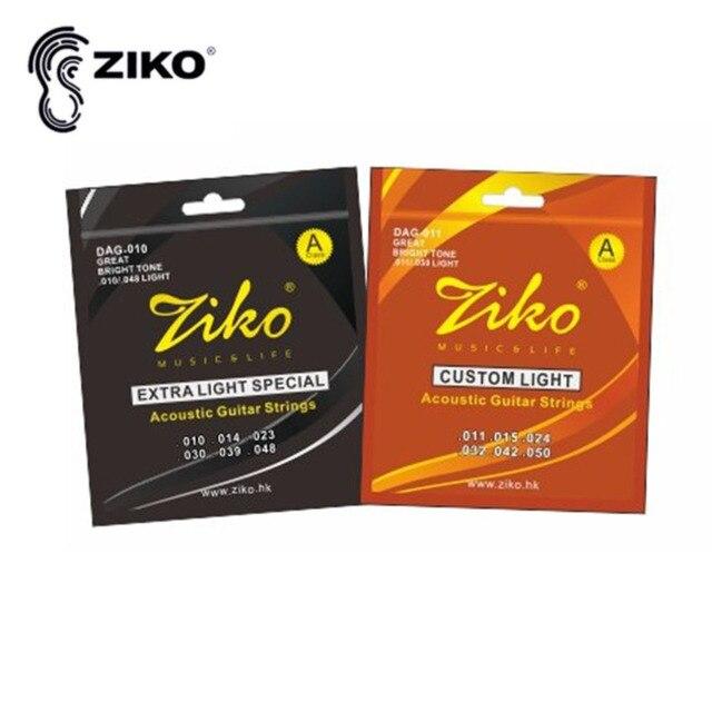 6 Strings Set Ziko Dag 010 011 Acoustic Guitar Strings Musical