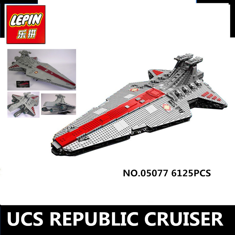 IN STOCK Lepin 05077 6125Pcs The UCS Rupblic Star Destroyer Cruiser ST04 Set Building Blocks Bricks Education Boy Toys lepin 05077 stars series war the ucs rupblic set star destroyer model cruiser st04 diy building kits blocks bricks children toys