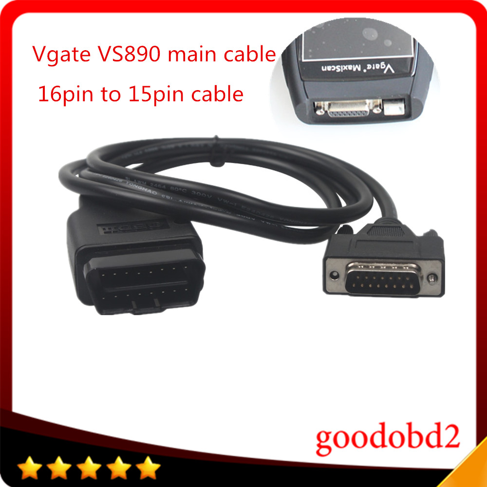 Car 16pin VGATE VS890 OBD2 Code Reader Universal OBD2 Scanner  Car Diagnostic Tool Vgate MaxiScan VS890 16pin  Obd2 Main Cable