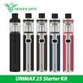 Оригинал Joyetech UNIMAX 25 Starter Kit 3000 мАч Батареи Прямой Легких Vaping КОМПЛЕКТ и Рот, чтобы Легкие Сигареты E w/BFL Го Dl катушки