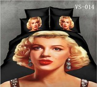 2017 Hot Sale New 7 Pcs Charming Marilyn Monroe Printing Bedding Sets Luxury 3d Bed Linen Bedclothes Duvet Cover 7pcs/set Quilt