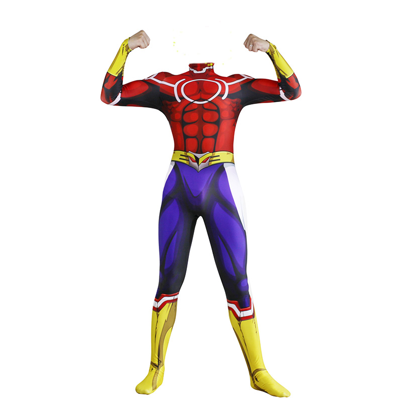 My Hero Academia All Might Cosplay Bodysuit Adult Men Anime All Might Costume Jumpsuit Zentai