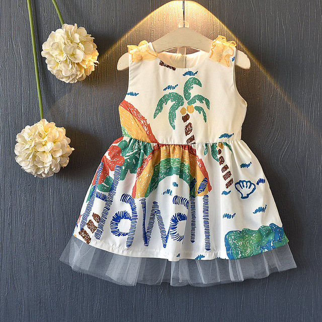 Girls Summer Dress Hawaii Baby Girl Summer Clothes Wholesale Lots Kids  Trendy Clothing Toddler Girl Cotton Print Dress Outfits ffaf9ff8c