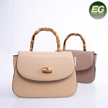 Red current Discount Promotion New fashion single shoulder bag simple lady  hand bag bamboo designs buttons 6a27e6dc7aef0