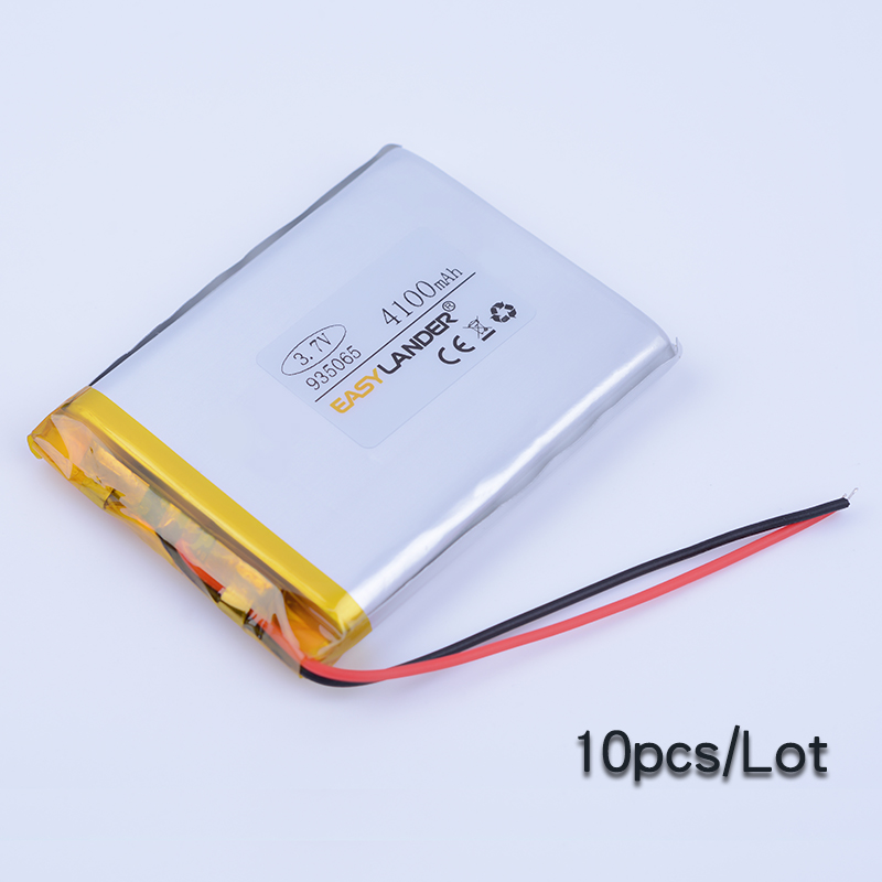 10pcs/Lot 935065 <font><b>3.7V</b></font> <font><b>4100mAh</b></font> Rechargeable li Polymer Li-ion <font><b>Battery</b></font> For lectronic part DIY Speaker Smart clothes power bank image