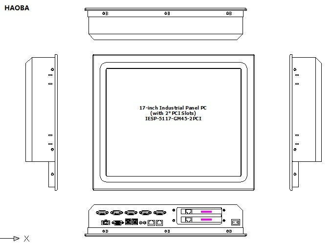 17 collu rūpnieciskais skārienekrāna paneļa dators ar 2 * PCI - Rūpnieciskie datori un piederumi - Foto 3