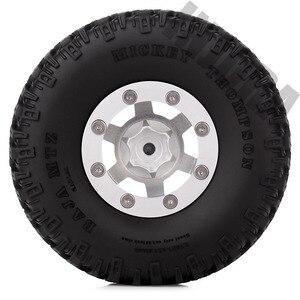 Image 5 - INJORA 4PCS 1.55 Inch Beadlock Aluminum Rim & Wheel Tires 1.55 Tyre for RC Crawler Car D90 TF2 Tamiya CC01 LC70 LC80